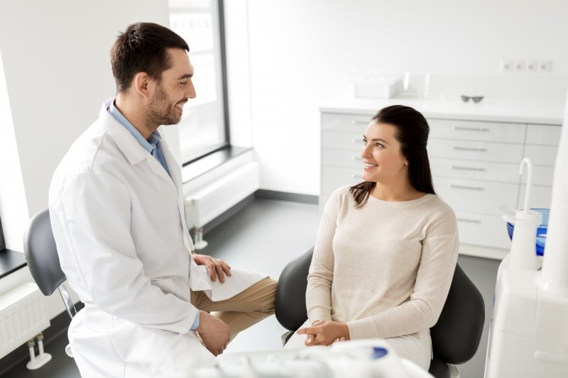 Patient at Dentist in Keller